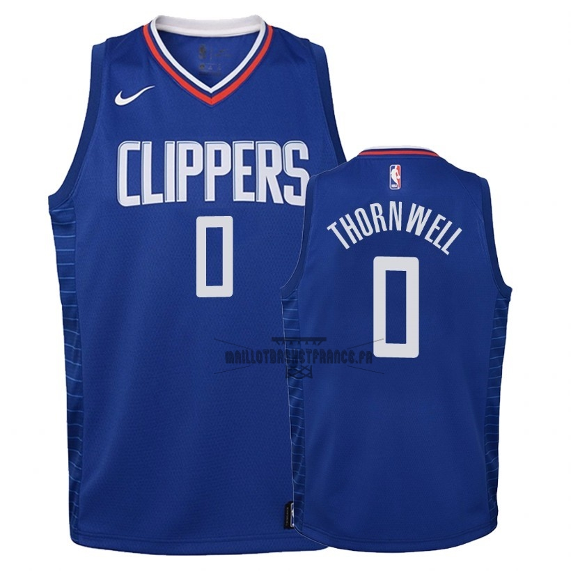 Meilleur Maillot NBA Enfant Los Angeles Clippers NO.0 Sindarius Thornwell Bleu Icon 2018