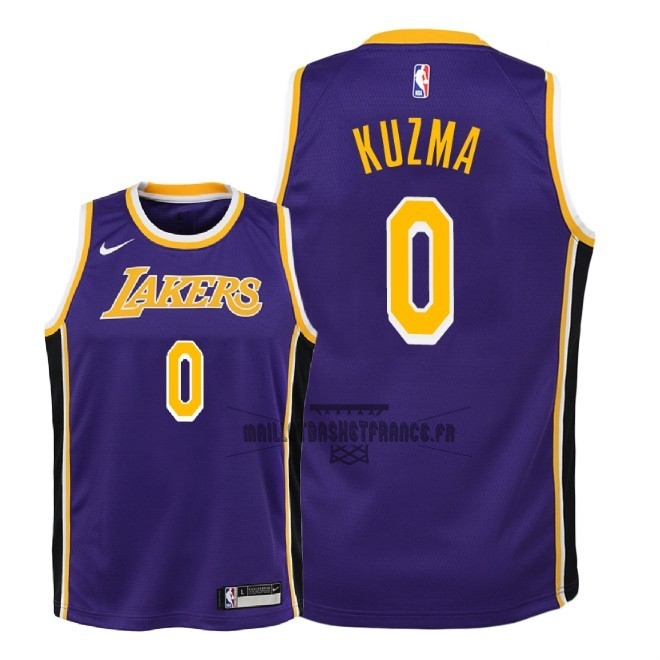 Meilleur Maillot NBA Enfant Los Angeles Lakers NO.0 Kyle Kuzma Pourpre Statement 2018-19