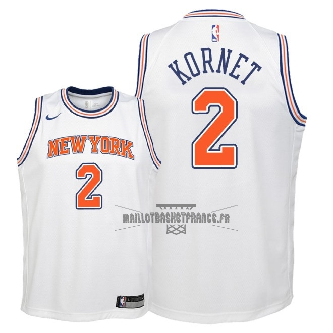 Meilleur Maillot NBA Enfant New York Knicks NO.2 Luke Kornet Blanc Statement 2018