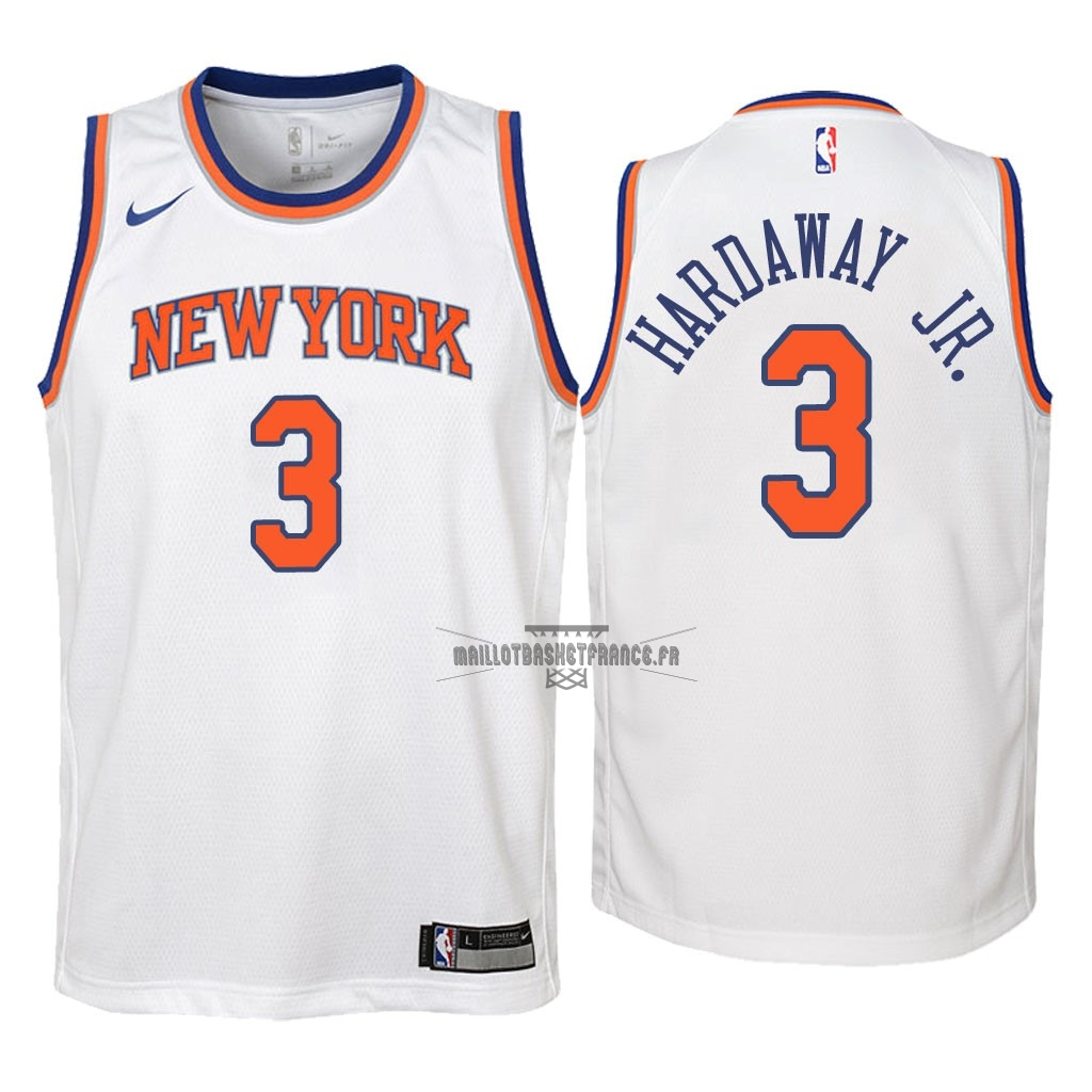 Meilleur Maillot NBA Enfant New York Knicks NO.3 Tim Hardaway Jr Blanc Association 2018