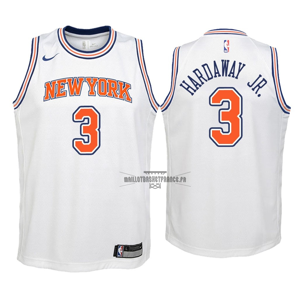 Meilleur Maillot NBA Enfant New York Knicks NO.3 Tim Hardaway Jr Blanc Statement 2018