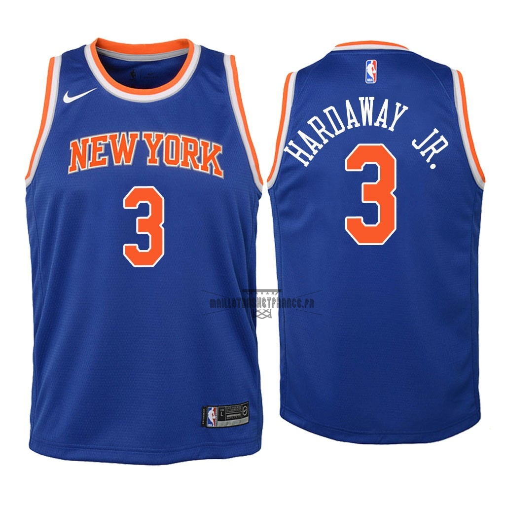 Meilleur Maillot NBA Enfant New York Knicks NO.3 Tim Hardaway Jr Bleu Icon 2018