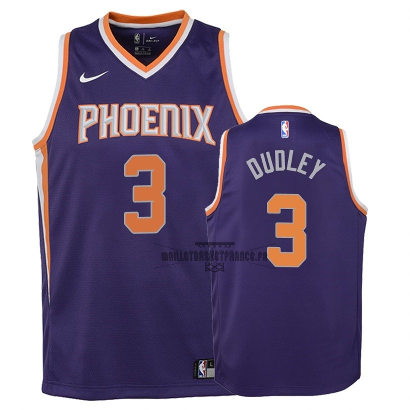 Meilleur Maillot NBA Enfant Phoenix Suns NO.3 Jared Dudley Pourpre Icon 2018