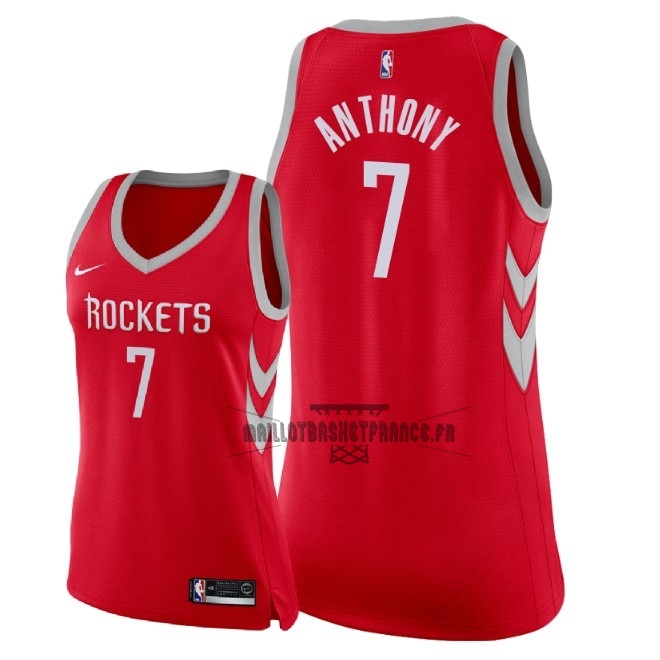 Meilleur Maillot NBA Femme Houston Rockets NO.7 Carmelo Anthony Rouge Icon 2018