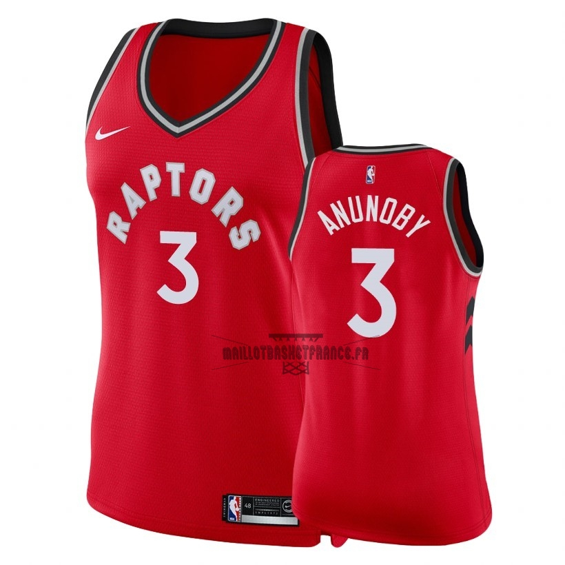 Meilleur Maillot NBA Femme Toronto Raptors NO.3 OG Anunoby Rouge Icon 2018