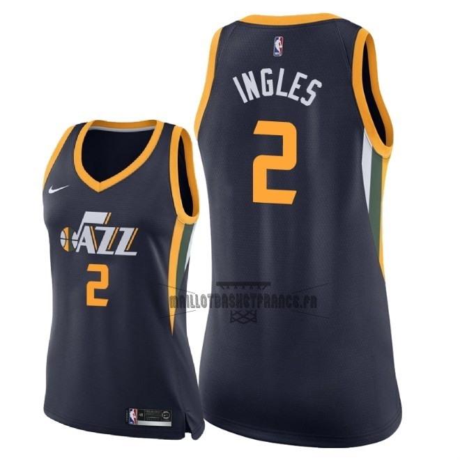 Meilleur Maillot NBA Femme Utah Jazz NO.2 Joe Ingles Marine Icon 2018