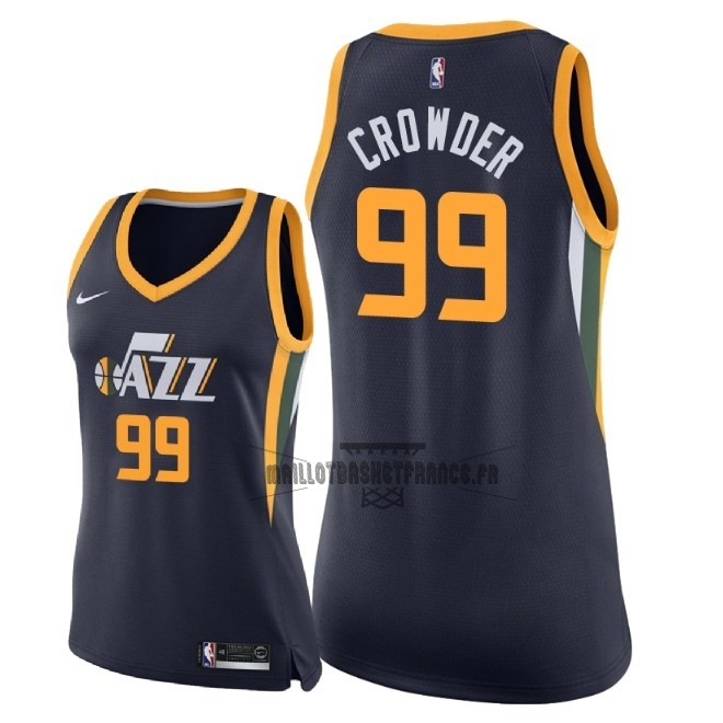 Meilleur Maillot NBA Femme Utah Jazz NO.99 Jae Crowder Marine Icon 2018