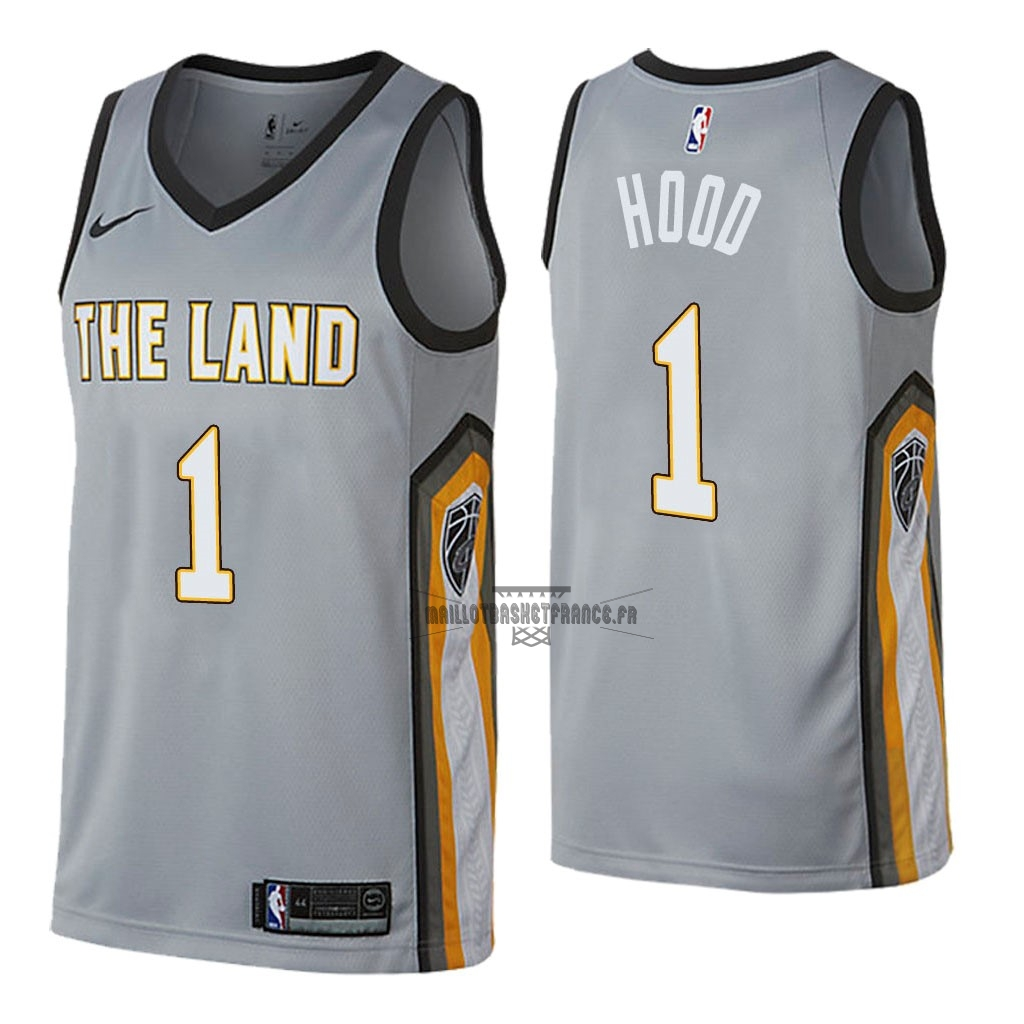 Meilleur Maillot NBA Nike Cleveland Cavaliers NO.1 Rodney Hood Nike Gris Ville 2018