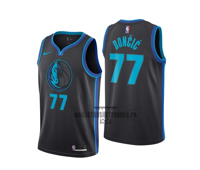 Meilleur Maillot NBA Nike Dallas Mavericks NO.77 Luka Doncic Nike Anthracite Ville 2018-19