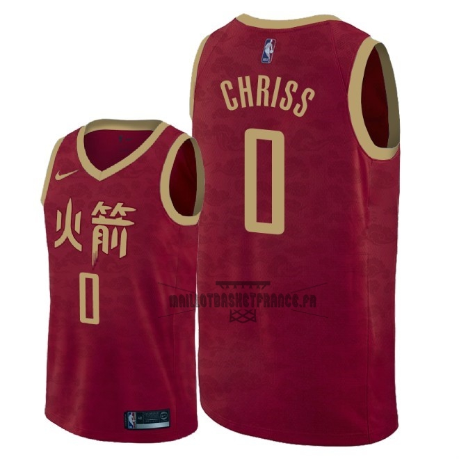 Meilleur Maillot NBA Nike Houston Rockets NO.0 Marquese Chriss Nike Rouge Ville 2018-19