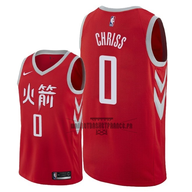 Meilleur Maillot NBA Nike Houston Rockets NO.0 Marquese Chriss Nike Rouge Ville 2018