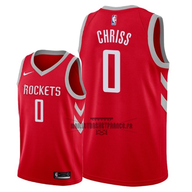 Meilleur Maillot NBA Nike Houston Rockets NO.0 Marquese Chriss Rouge Icon 2018