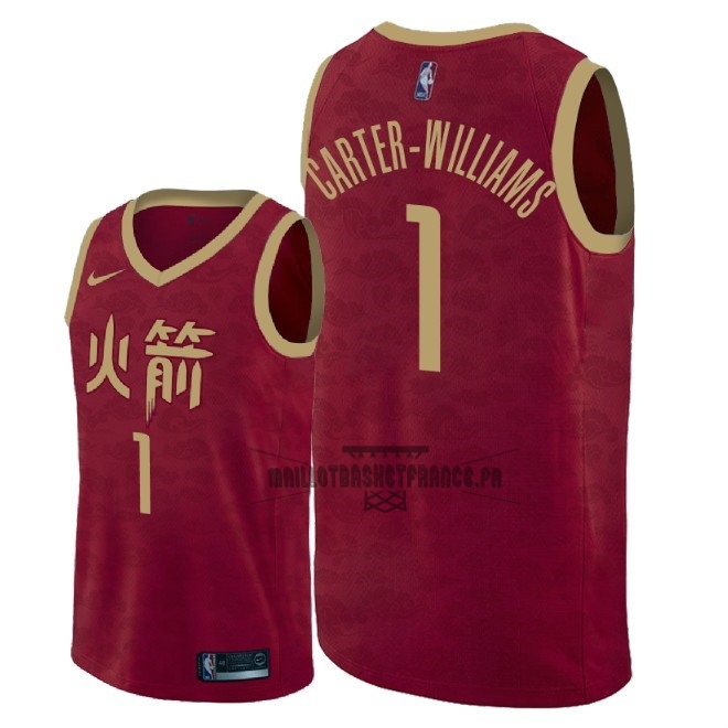 Meilleur Maillot NBA Nike Houston Rockets NO.1 Michael Carter Williams Nike Rouge Ville 2018-19