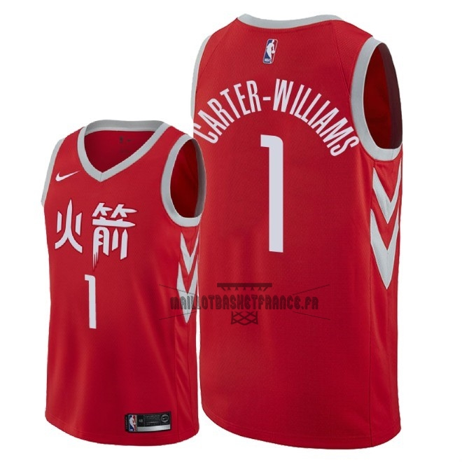 Meilleur Maillot NBA Nike Houston Rockets NO.1 Michael Carter Williams Nike Rouge Ville 2018