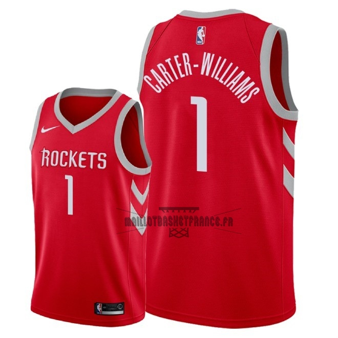 Meilleur Maillot NBA Nike Houston Rockets NO.1 Michael Carter Williams Rouge Icon 2018