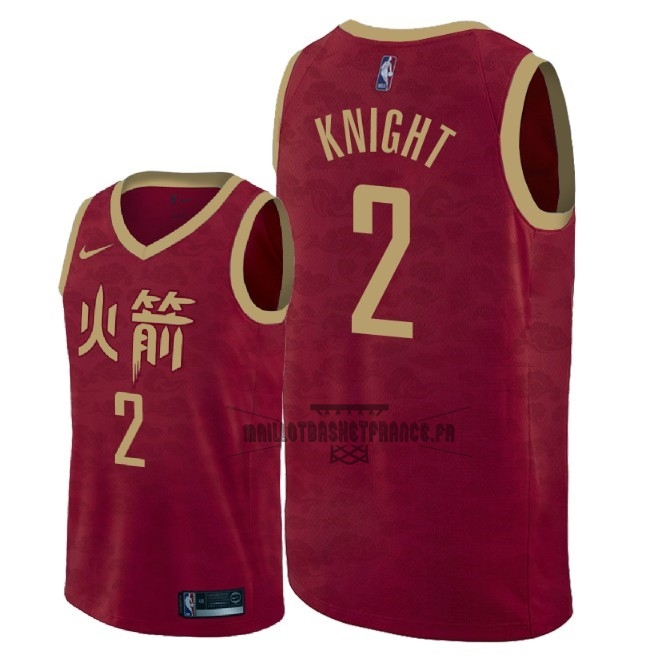 Meilleur Maillot NBA Nike Houston Rockets NO.2 Brandon Knight Nike Rouge Ville 2018-19