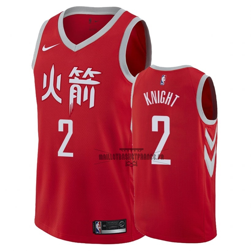 Meilleur Maillot NBA Nike Houston Rockets NO.2 Brandon Knight Nike Rouge Ville 2018