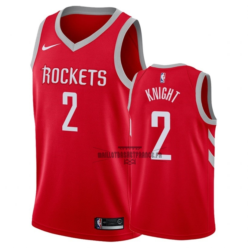 Meilleur Maillot NBA Nike Houston Rockets NO.2 Brandon Knight Rouge Icon 2018