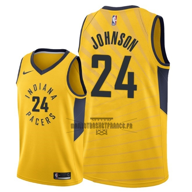 41f5b7ca4060 Meilleur Maillot NBA Nike Indiana Pacers NO.24 Alize Johnson Jaune  Statement 2018-19
