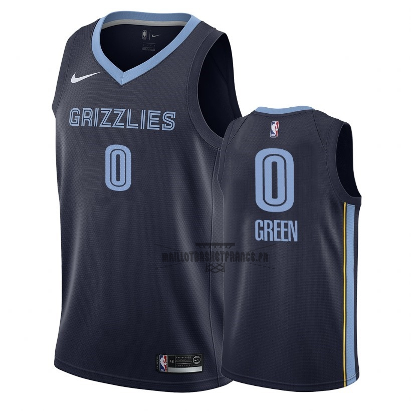 Meilleur Maillot NBA Nike Memphis Grizzlies NO.0 JaMychal Green Marine Icon 2018-19
