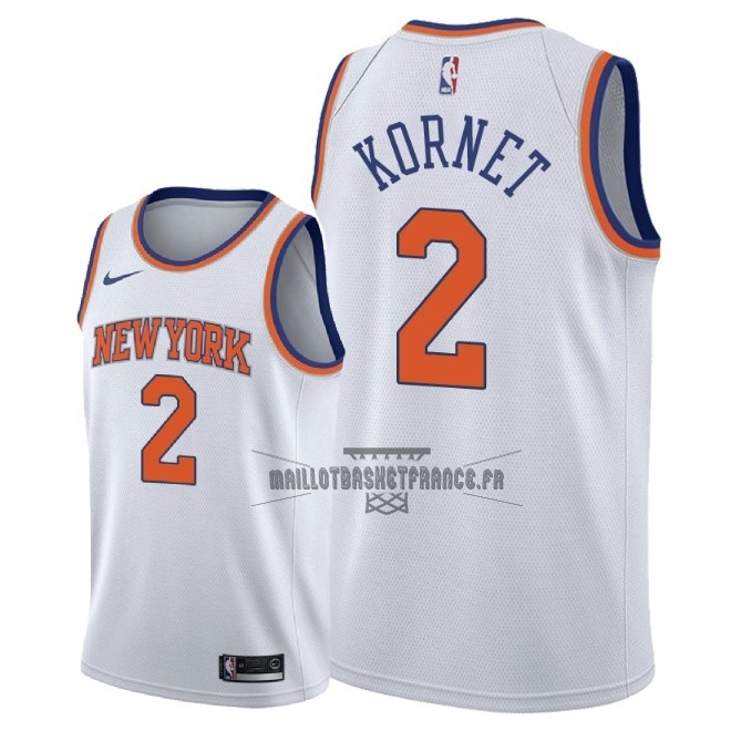 Meilleur Maillot NBA Nike New York Knicks NO.2 Luke Kornet Blanc Association 2018