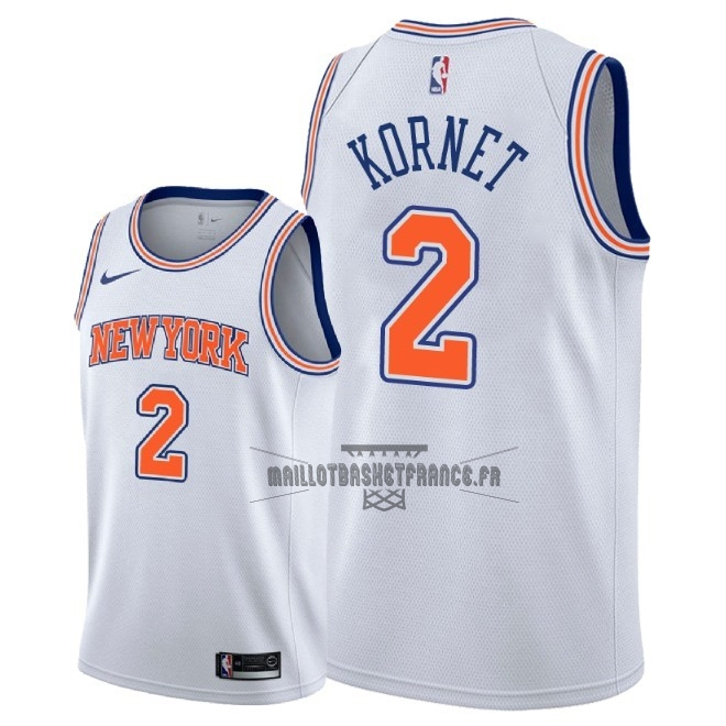 Meilleur Maillot NBA Nike New York Knicks NO.2 Luke Kornet Blanc Statement 2018