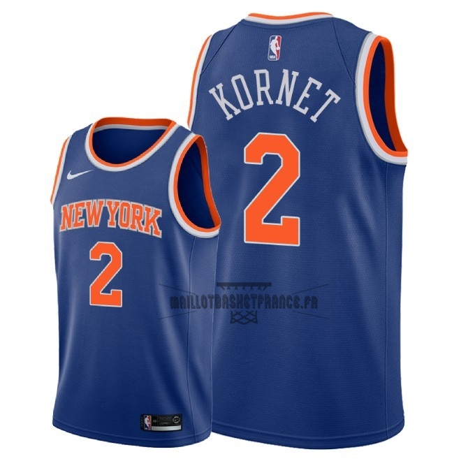 Meilleur Maillot NBA Nike New York Knicks NO.2 Luke Kornet Bleu Icon 2018