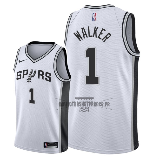 Meilleur Maillot NBA Nike San Antonio Spurs NO.1 Lonnie Walker Blanc Association 2018