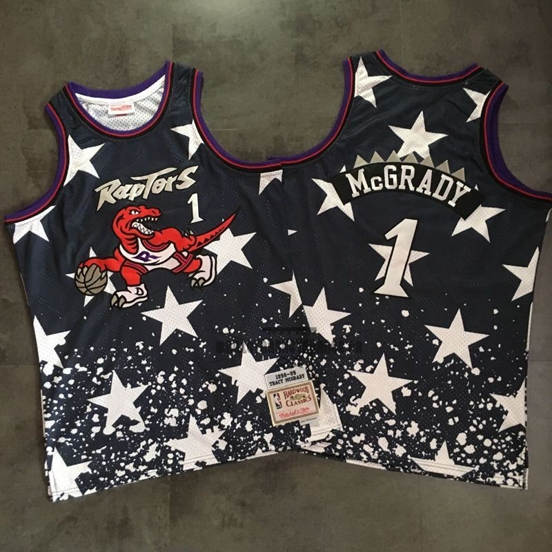 Meilleur Maillot NBA Toronto Raptors NO.1 Tracy McGrady Retro Noir AU