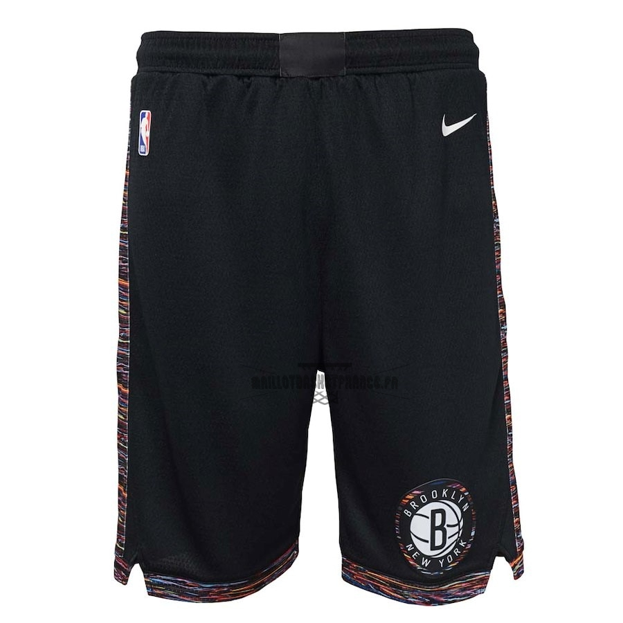 Meilleur Short Basket Enfant Brooklyn Nets Nike Noir Ville 2018-19