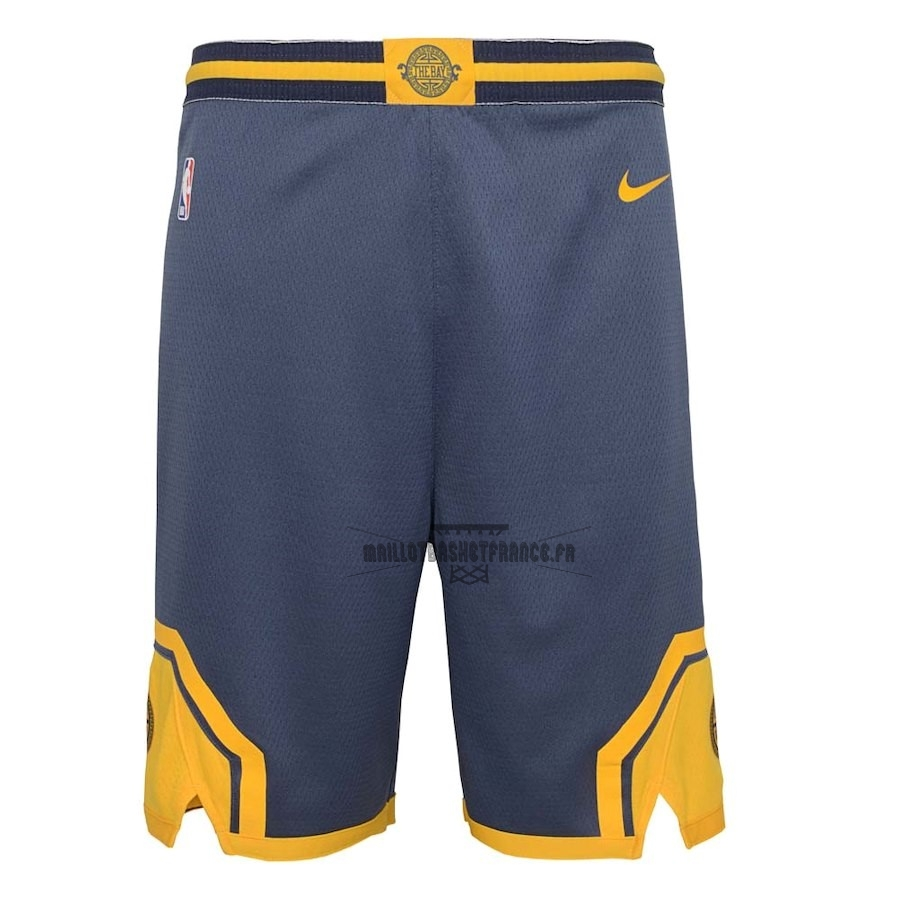 Meilleur Short Basket Enfant Golden State Warriors Nike Marine Ville 2018-19