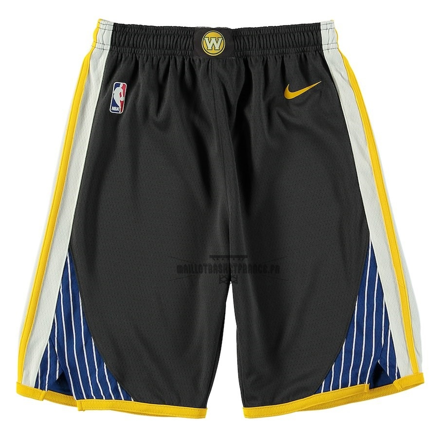 Meilleur Short Basket Enfant Golden State Warriors Nike Noir 2018-19