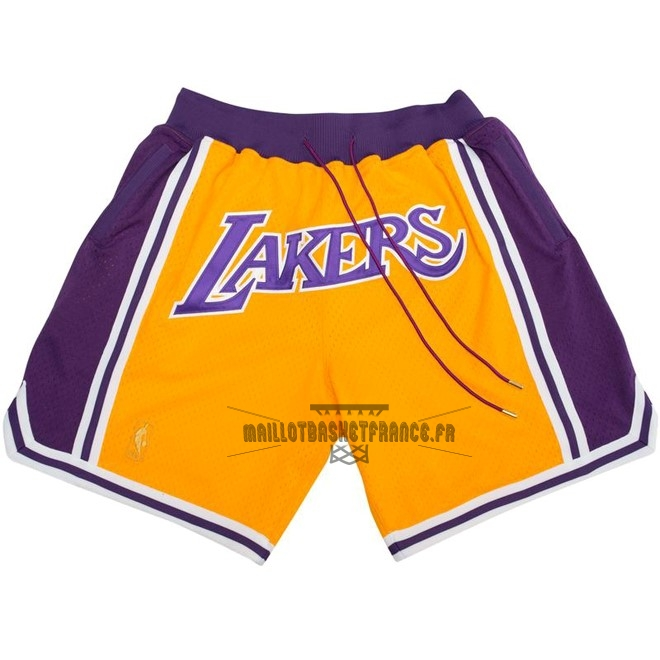 Meilleur Short Basket Los Angeles Lakers Nike Retro Jaune 2018