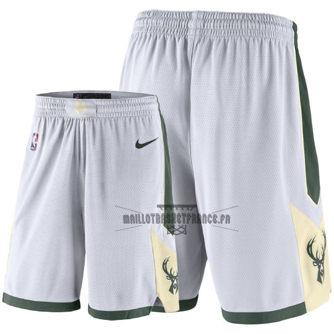 Meilleur Short Basket Milwaukee Bucks Nike Blanc 2018