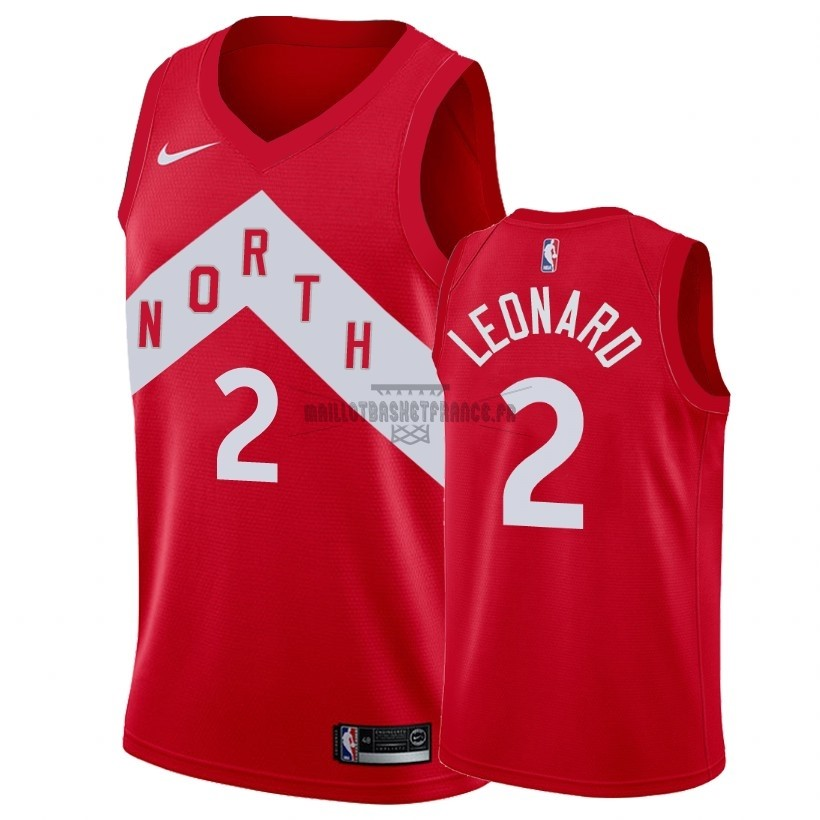 Meilleur Maillot Earned Edition Toronto Raptors NO.2 Kawhi Leonard Rouge 2018-19