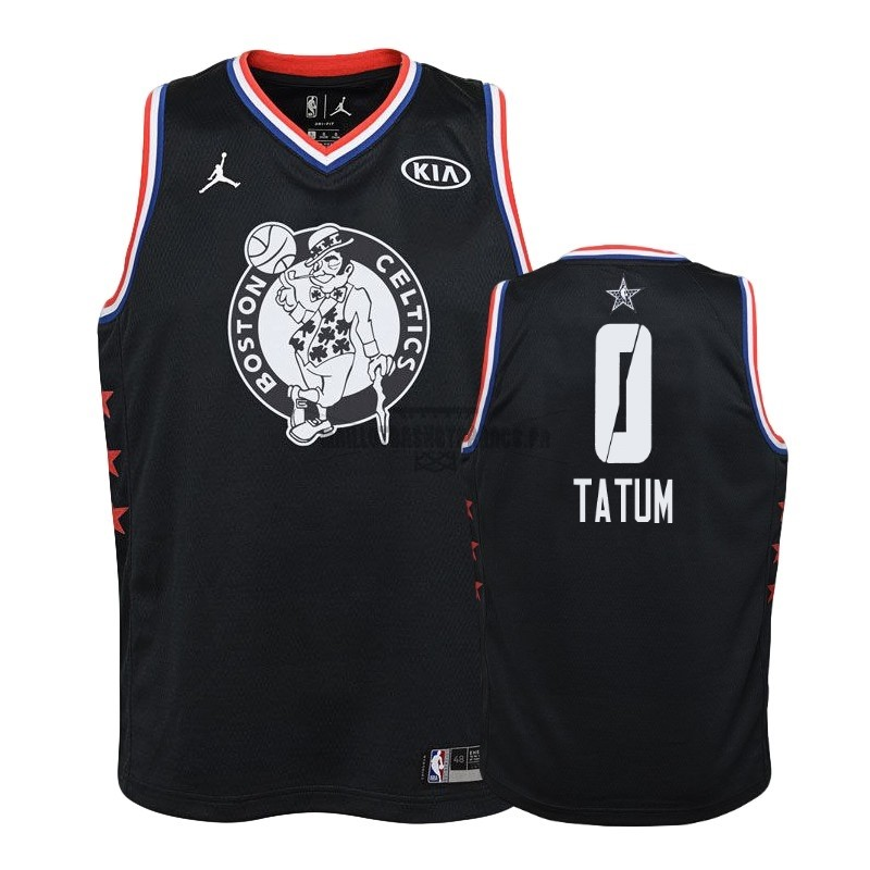 Meilleur Maillot NBA Enfant 2019 All Star NO.0 Jayson Tatum Noir