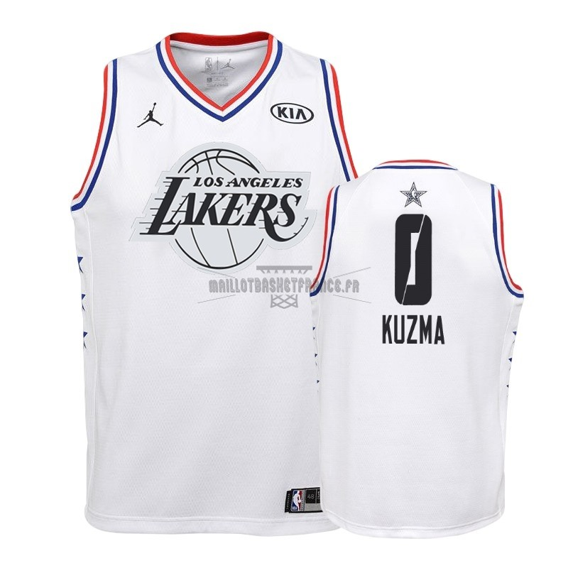 Meilleur Maillot NBA Enfant 2019 All Star NO.0 Kyle Kuzma Blanc