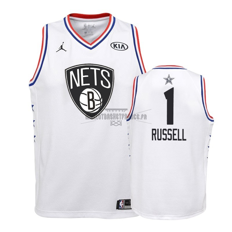 Meilleur Maillot NBA Enfant 2019 All Star NO.1 DAngelo Russell Blanc