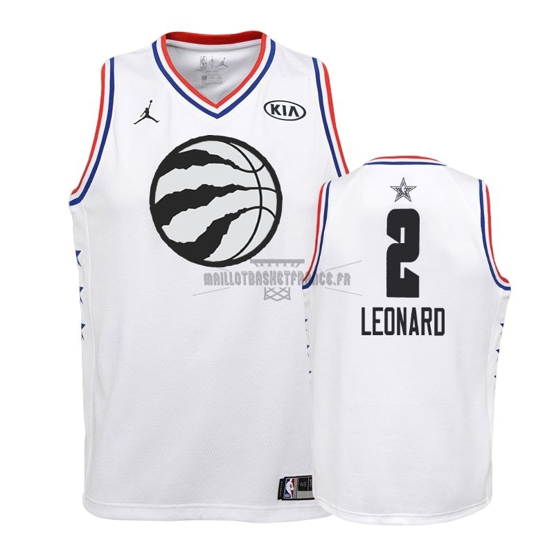 Meilleur Maillot NBA Enfant 2019 All Star NO.2 Kawhi Leonard Blanc