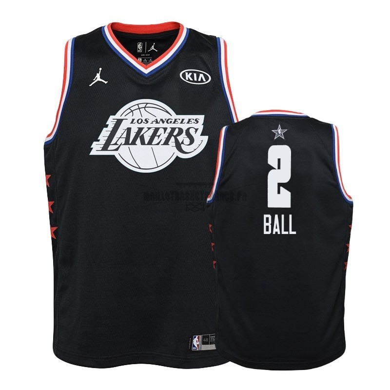 Meilleur Maillot NBA Enfant 2019 All Star NO.2 Lonzo Ball Noir