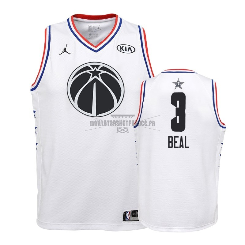 Meilleur Maillot NBA Enfant 2019 All Star NO.3 Bradley Beal Blanc