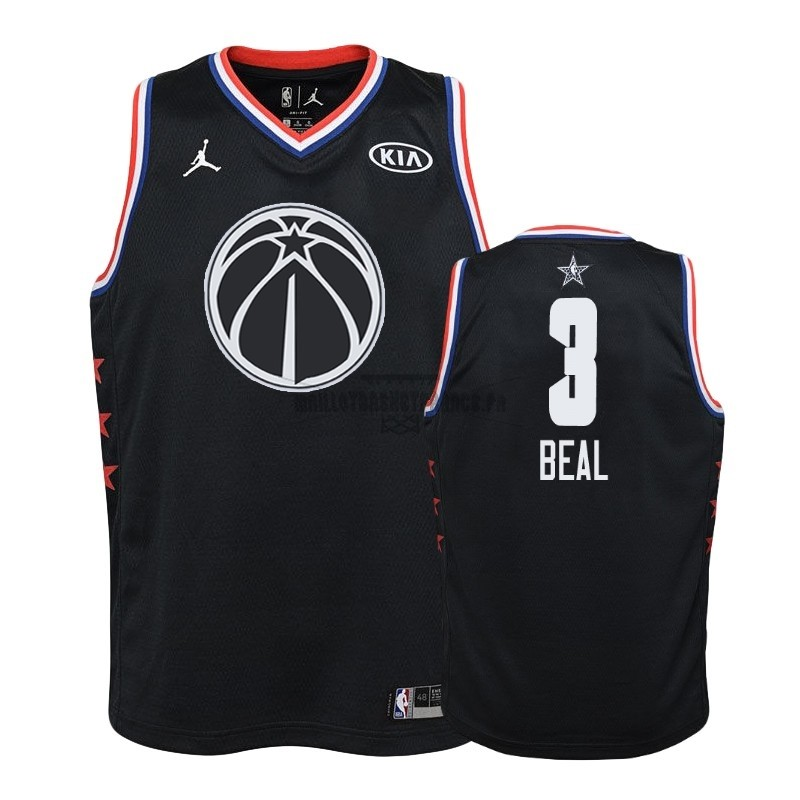 Meilleur Maillot NBA Enfant 2019 All Star NO.3 Bradley Beal Noir