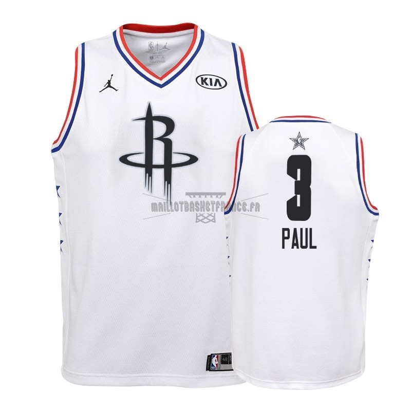 Meilleur Maillot NBA Enfant 2019 All Star NO.3 Chris Paul Blanc
