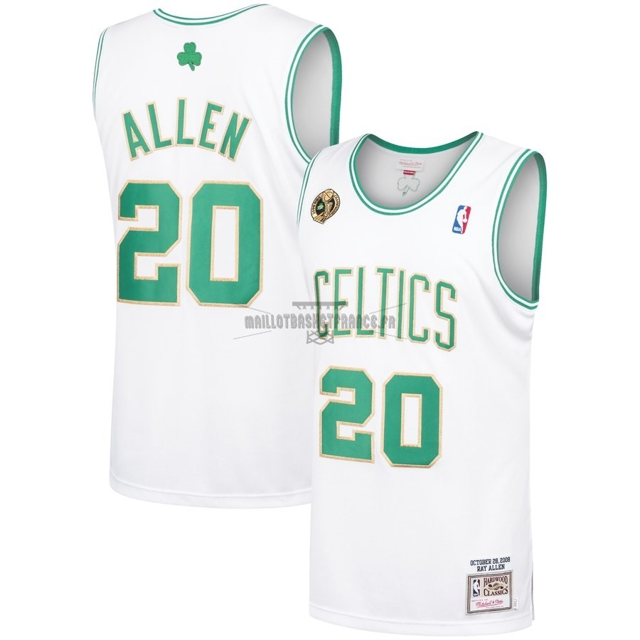 Meilleur Maillot NBA Boston Celtics NO.20 Ray Allen Vert Hardwood Classics 2008-09