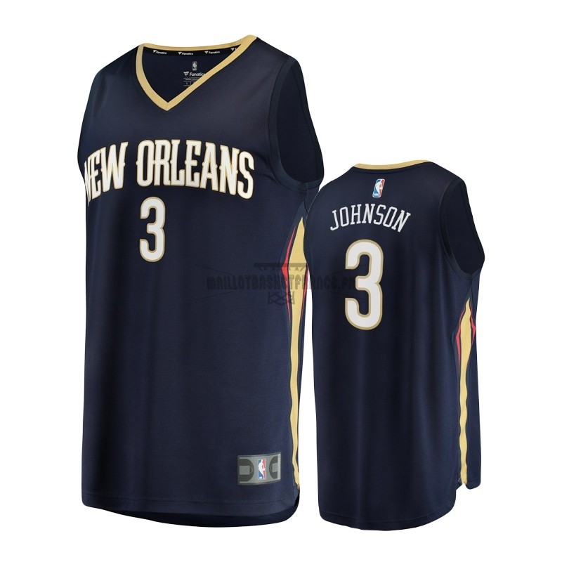 Meilleur Maillot NBA Enfant New Orleans Pelicans NO.3 Stanley Johnson Noir Icon