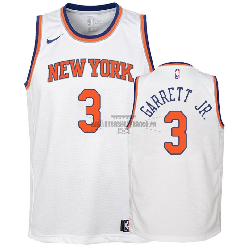 Meilleur Maillot NBA Enfant New York Knicks NO.3 Billy Garrett Jr. Blanc Association 2018-19