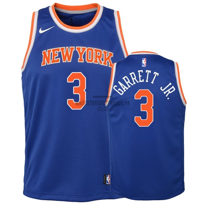 Meilleur Maillot NBA Enfant New York Knicks NO.3 Billy Garrett Jr. Bleu Icon 2018-19
