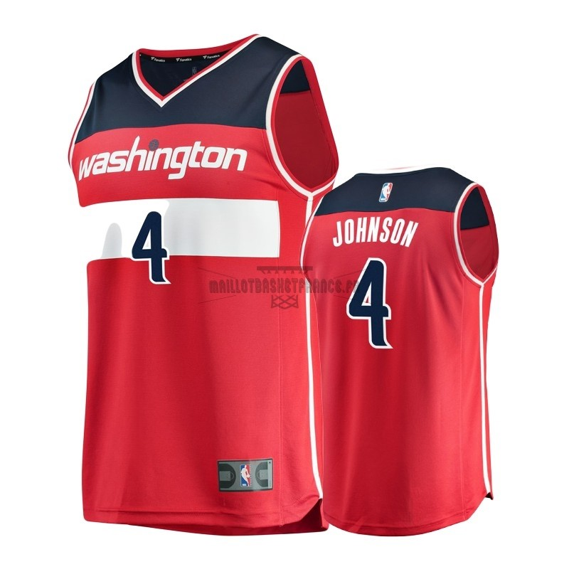 Meilleur Maillot NBA Enfant Washington Wizards NO.4 Wesley Johnson Rouge Icon