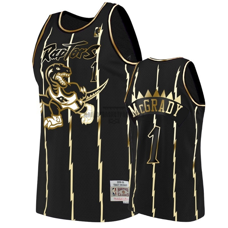 Meilleur Maillot NBA Nike Toronto Raptors NO.1 Tracy McGrady Or Edition