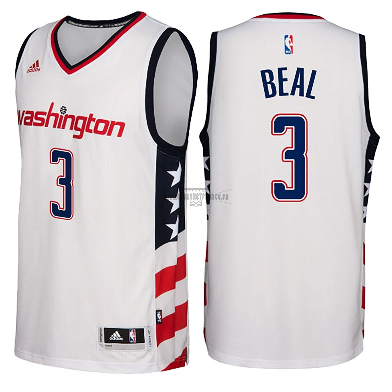 Meilleur Maillot NBA Washington Wizards NO.3 Bradley Beal Blanc Hardwood Classics 2016-17